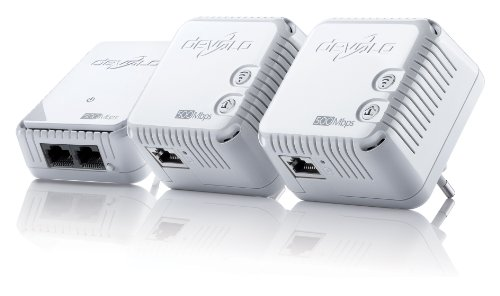 devolo dLAN 500 WiFi Network Kit ( 500 Mbit/s, WLAN Repeater, Kompaktgehäuse, Powerline) weiß