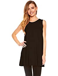 Womens Sleeveless Tunics - Women Flowy Tunic Tank Tops for Leggings