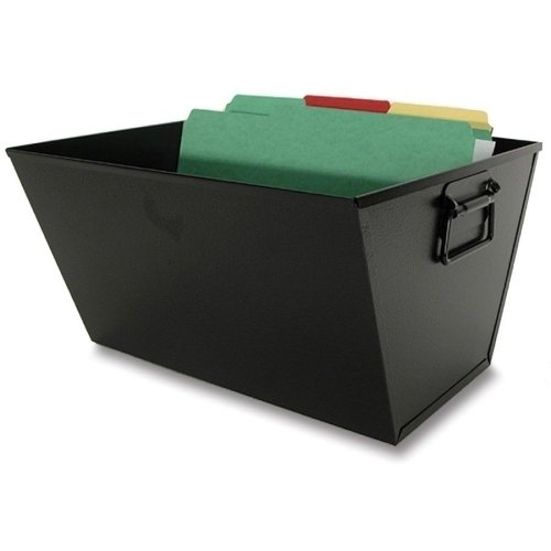 Buddy Products Posting Tub, Letter Size, Steel, 13 x 7.5 x 12.5 Inches, Black (0714-4) (Posting Steel Tub)