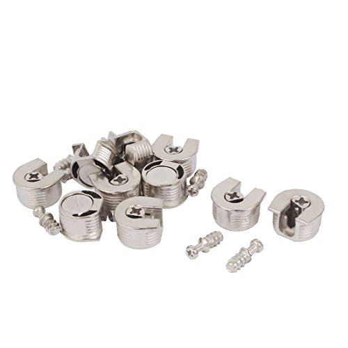 - uxcell 20mm Thread Cam Lock Alloy Shelf Support Holder Bracket Stud Pin 10pcs
