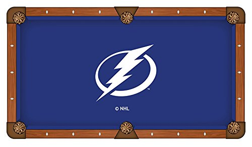 7' Tampa Bay Lightning Logo Pool Table Cloth