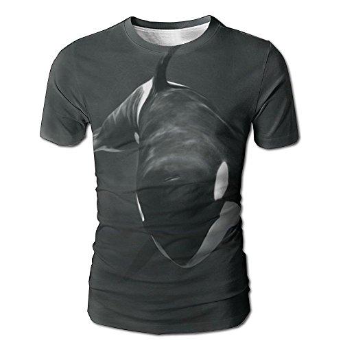 Price comparison product image Mens Black Cetacean Fashion Tshirt Baseball Sports Tees