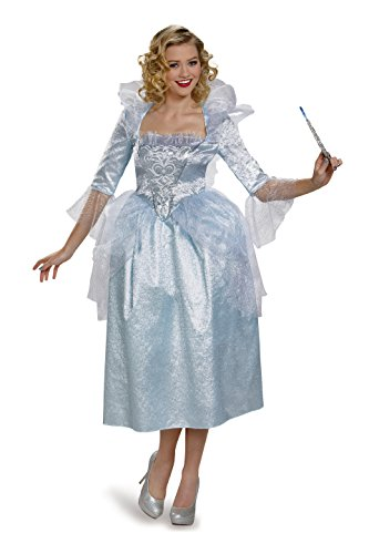 Disguise Women's Fairy Godmother Movie Adult Deluxe Costume, White, Medium -