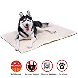 Thermal Bed Mat - Self Warming Soft Pet Cushion Pad for Dogs & Cats - No Power or Batteries Needed - Great for Use in Cold Weather