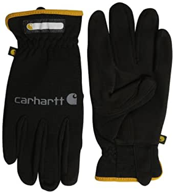 Carhartt Men's Work Flex Spandex Work Glove with Water Repellant Palm, Black, Small