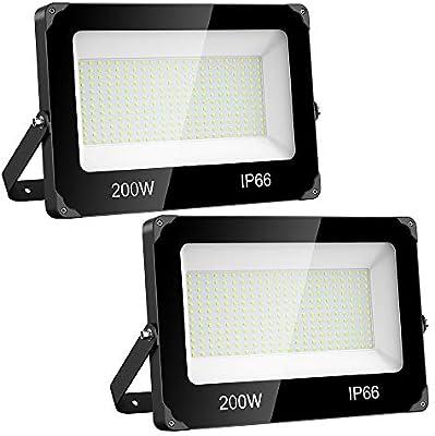 Onforu 200W Foco LED Exterior (2 Pack) 22000LM Super Potente ...