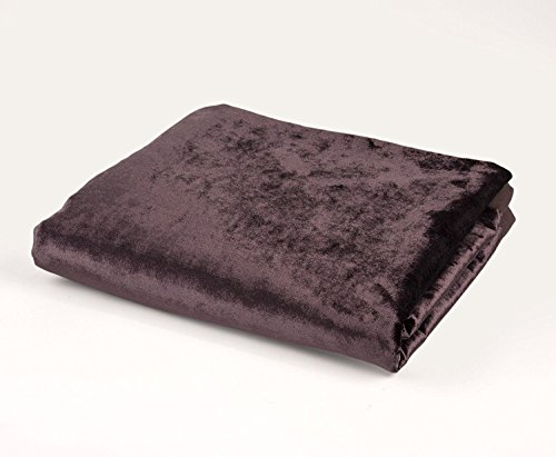 McAlister Shiny Velvet | Extra Long Table Runner | 13x105 Aubergine Eggplant Plum Purple | Lush, Plush & Soft Classic Crushed Accent Décor ()