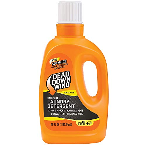 Dead Down Wind Laundry Detergent   40oz Bottle   Unscented   Gentle Odor Eliminator + Stain Remover for Hunting Accessories, Gear and Clothes, Safe for Sensitive Skin