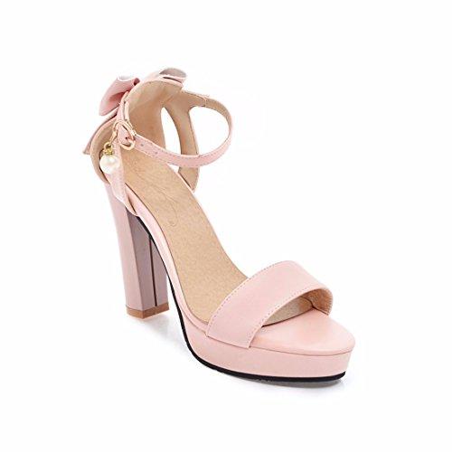 Mujer Sandalias de Pink Zapatos Sandalias de Mujer Altos Tacones de Sandalias Mujer 1IqSwFFv