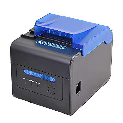 MUNBYN 80mm Thermal Receipt Kitchen Printer USB RS232 LAN 2048KB Bytes to Avoid Order Missing ESC/POS With Order Reminder Waterproof - 24 Thermal Printer Cutter
