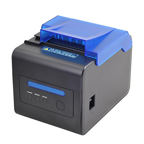 Price comparison product image MUNBYN 80mm Thermal Receipt Kitchen Printer USB RS232 LAN 2048KB Bytes to Avoid Order Missing ESC / POS With Order Reminder Waterproof Oilproof