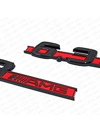 US85 Direct 2 x 6,3 AMG emblema original de guardabarros izquierdo y derecho adhesivo logotipo insignia de la placa de la decoración del deporte para Mercedes Benz OEM ABS