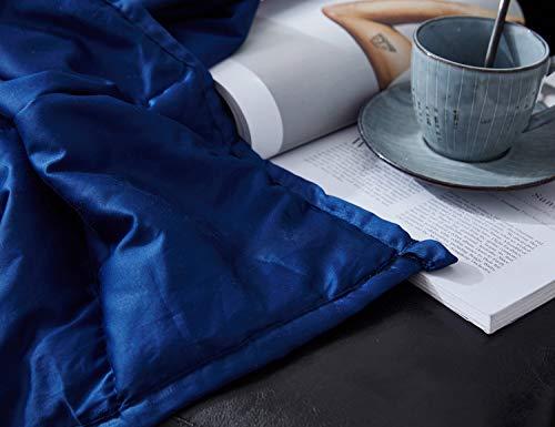 MIAOLULU Manta Ponderada Adultos Reducir La Ansiedad, El Estrés, El Insomnio | Mejor para El Autismo Y El TDAH,Blue,150 * 200CM(9KG): Amazon.es: Hogar