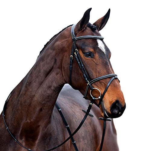 - Horze Constance Padded Flash Bridle Light Brown Full