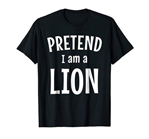 (Funny Lion Costume Shirt Easy Idea for)