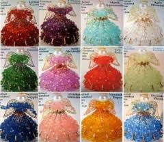 Birthstone Angel Ornament Bead Kit October Tourmaline