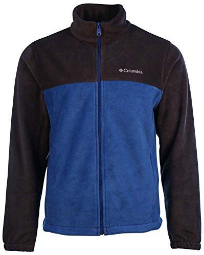 Columbia Men's Granite Mountain Fleece Jacket-Black/Blue-XL