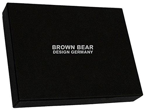 Brown Bear - Bolso de asas para hombre negro 0
