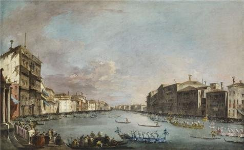 ['Francesco Guardi - Regatta In Venice, C. 1770' Oil Painting, 16x26 Inch / 41x66 Cm ,printed On Perfect Effect Canvas ,this High Definition Art Decorative Canvas Prints Is Perfectly Suitalbe For Game Room Artwork And Home Decoration And] (Color Guard Costumes Rental)