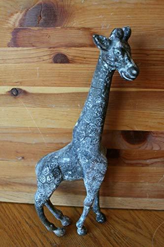 Bronze Giraffe Statue 12-3/4