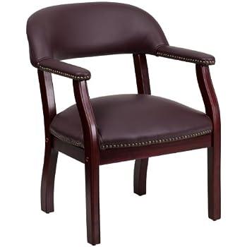 Amazon Com Flash Furniture Burgundy Top Grain Leather