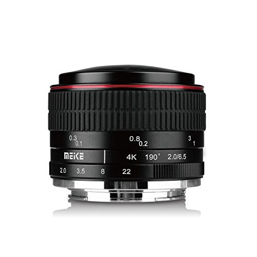 Meike 6 5mm Ultra Wide f/2 0 Fisheye Lens for Canon Mirorrless Camera