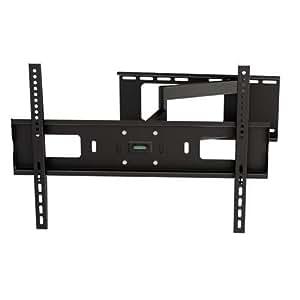 ultra slim dual arm tilt and swivel adjustable wall mount corner bracket for 32 60. Black Bedroom Furniture Sets. Home Design Ideas