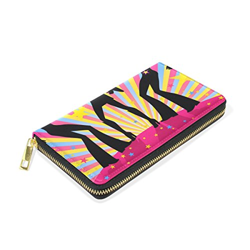 Wallet Zip And Clutch Party TIZORAX Womens Organizer Disco Around Purses Handbags qY86OvY