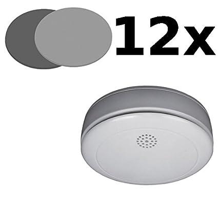 12 Bundle Detector de humo Smartwares RM218 + 12 Soporte Magnético Elro RMAG2