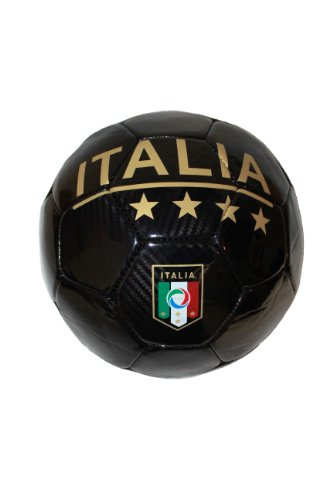 Italia Italy Black FIGC Logo FIFA World Cup Soccer Ball Size 5. New by SUPERDAVES SUPERSTORE