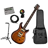 prs se 24 custom - PRS SE Custom 24 Tobacco Sunburst Electric Guitar w/Cable, Stand, Cloth, and Tu