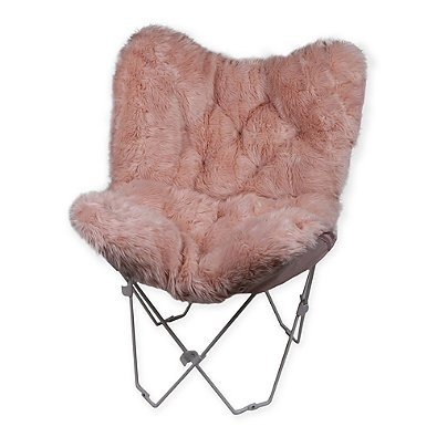 Faux Fur Butterfly Chair in Blush 417dP 2BWlQ0L