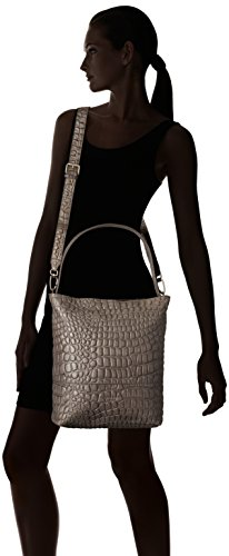 Hobo Liebeskind Berlin Tribeca Rock Leather Women's Croco Embossed Grey YRFYx