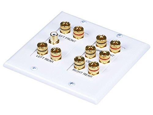 Datacomm 45-0060 5.1 Surround Sound 2-Gang Plate