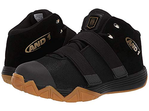 - AND1 Men's Chosen One II Black/Metallic Gold/Gum 9 D US