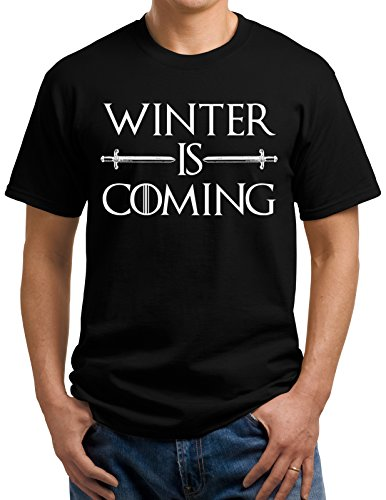 Winter is Coming T-shirt - X-Large - Black