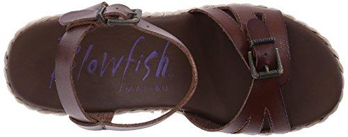 Blowfish Disco de la mujer en sandalias de plataforma Whiskey Dyecut PU/Nat Straw Rope