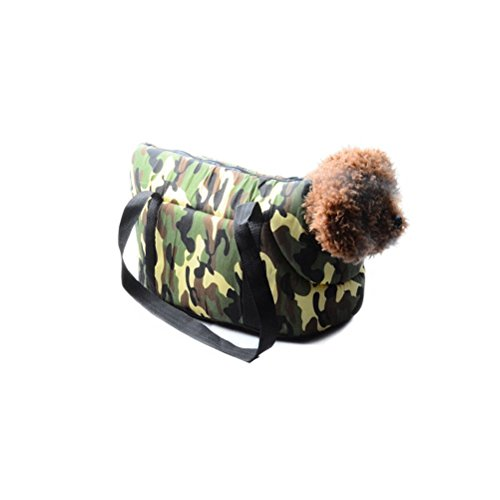 Sunlightam Camouflage Dog Puppy Cat Carrying Travel Purse Bag Head Out (L) (Camouflage Carrier Dog)