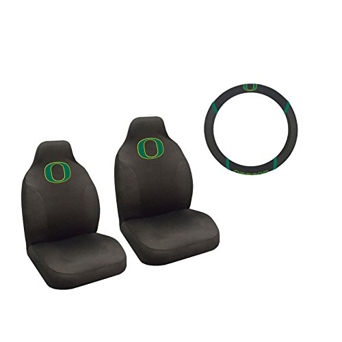 MULTI_B Oregon Ducks 2 Seat Covers And Wheelcover With