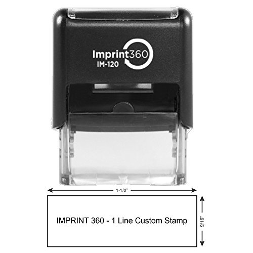 One Line Custom Rubber Stamp (Black)