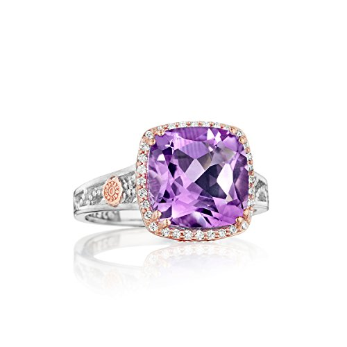 Tacori SR226P01 Two-Tone Diamond And Amethyst Ring, Size 7 (0.40 cttw, H-I Color, I2-I3 Clarity)