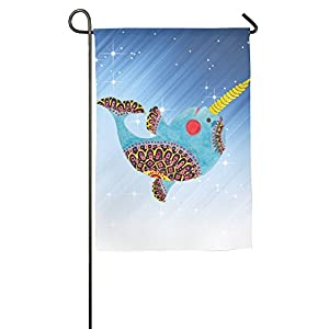 Weiheiwec 9 National Wind Narwhal Home Flag Garden Flag Demonstrations Flag Family Party Flag Match Flag 1218inch