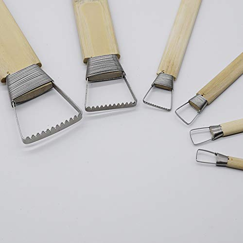 Bamboo Polymer Clay Tools Plastic Polymorph Pottery Sculpture Carved Clay Ceramic Tools for Beginners