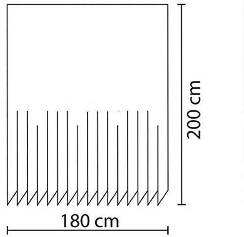 Zethome Cortina de Ba/ño 180 x 200 cm Color Crema Premium Original Antimoho Impermeable Lavable Antibacteriana Poliester Tela con Anillas de Cortina Ducha para Ba/ñeras m/ás Bonitos y Modernos