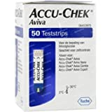Accu-Chek Aviva 50 Test Strips Glucometer(Purple)