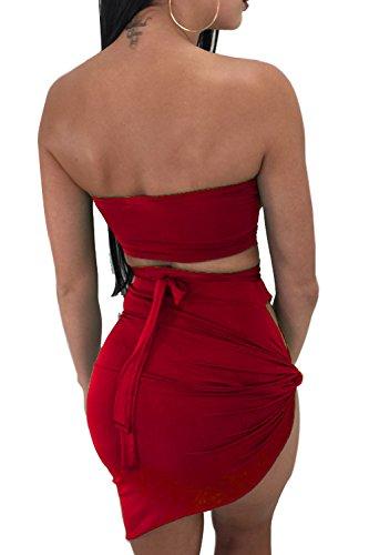 Mujeres Mini De Vestidos Hot Las Corte Tirantes Verano Bodycon Sin Red Vestido De Asimétrico dqH18Wt8zw