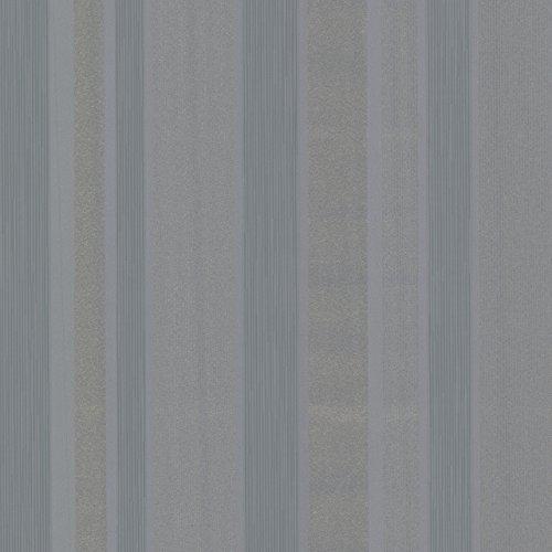 Beacon House 493-ITB035 Amira Horizontal Multi Stripe Wallpaper, Black