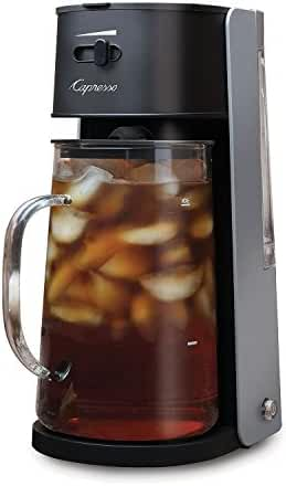Capresso Iced Tea maker with 80oz Glass Carafe and Removable Water Tank,Black