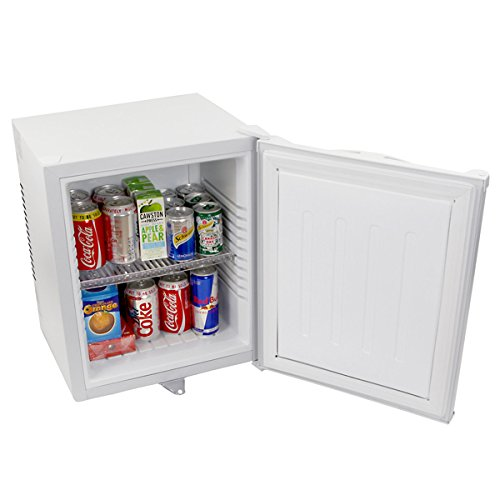 bar@drinkstuff ChillQuiet Silent Mini Fridge 24ltr White - Completely Quiet Mini Bar, Ideal for Hotels and B& Bs [Energy Class B]