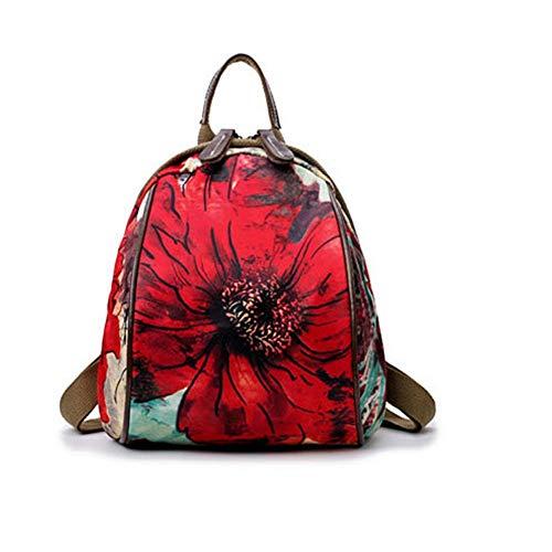 VHVCX À Red Mode Femme Vert Dos Célèbre Back École Filles Petit Marque Sacs Maman Femmes Femme'S Sacs Fleurs Sac Pack Mochilas À Floral Dos rp6xrnq